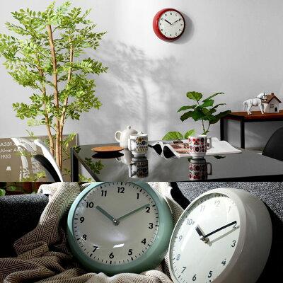 掛け時計掛時計時計壁掛け時計レトロおしゃれデザインアメリカンレントン壁掛けかけ時計北欧シンプルかわいいメンズレディースユニセックスインテリアアンティークミッドセンチュリーアナログクロック雑貨スチールガラスきれいめ男前西海岸スタイリッシュモダン