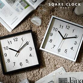 ●クーポン100円OFF●壁掛け時計 北欧 おしゃれ 静音 四角 音がしない 見やすい 秒針 掛け時計 掛時計 かけ時計 時計 とけい メンズ レディース 子供 かわいい シンプル スイープムーブメント スクエア スイープ アナログ ウォールクロック 黒 白