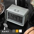 電波時計置き時計デジタル時計自動時刻設定自動補正温度計付目覚まし時計アラームクロック卓上時計カレンダー付き温度計バックライトスヌーズ電波クロックアラーム時計卓上スヌーズ機能電池式テーブルクロック12H時間表示24H時間表示12H/24H時間表示
