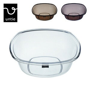 untie crystal アンティクリスタル 透明「湯桶 /角-UNC」風呂おけ 桶 湯おけ バスボウル ウォッシュボウル バスグッズ シンカテック