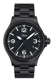 ジン 腕時計 SINN 時計 856.B.S新たに生まれた856.B.Sは、UTC(デュアルタイム)機能付きの856のUTC機能を廃した刻時に特化した新作856.BにブラックPVD加工を施したモデルです