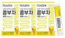 TEAZEN コンブチャ(レモン) Kombucha Lemon 5g x 30stさわやかな果物の炭酸水の味! おいしい! 美容茶 减肥茶 …
