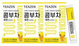 TEAZEN コンブチャ(レモン) Kombucha Lemon 5g x 30stさわやかな果物の炭酸水の味! おいしい! 美容茶 减肥茶 健康茶 Beauty Tea Diet Tea Healthy Tea