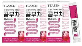 TEAZEN コンブチャ (ベリー) Kombucha Berry 5g x 30st さわやかな果物の炭酸水の味! おいしい! 美容茶 减肥茶 健康茶 Beauty Tea Diet Tea Healthy Tea