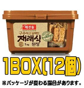 『ヘチャンドル』メジュデンジャン 1kg(■BOX 12入) <韓国調味料・韓国味噌・韓国みそ>