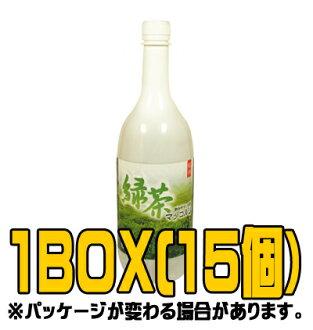 『楊州』緑茶マッコリ 1L(■BOX 15入) <韓国どぶろく>