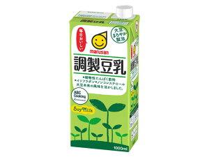 マルサンアイ 調製豆乳 紙パック 1ケース(1000ml×6本)『豆乳』【ケース販売】【健康食品】【健康シニア】