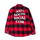 未使用品 2017AW Anti Social Social Club アンチソーシャルソーシャルクラブ No Expectations Flannel フラン...