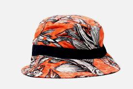 【中古】Patagonia パタゴニア Wavefarer Bucket Hat ハット F Hawaiian Fish Cusco Orange オレンジ /◆ メンズ 【ベクトル 古着】 200904 ベクトル 新都リユース