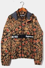 【中古】2018AW Supreme シュプリーム GORE-TEX Court Jacket ゴアテックス コートジャケット L Flower Print フラワープリント /● メンズ 【ベクトル 古着】 210113 ベクトル 新都リユース
