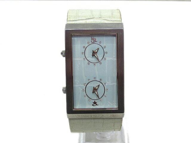 カズロック KAZZROCK original ダブルフェイス レザー クォーツ 腕時計 メンズ 【中古】【ベクトル 古着】 180223 ベクトル 新都リユース