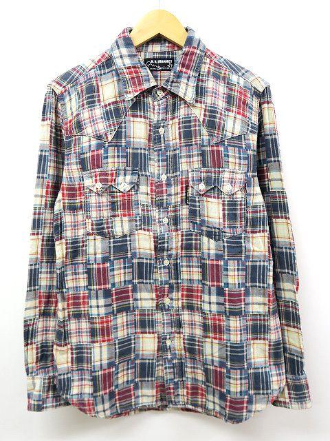 H.R.MARKET ハリウッドランチマーケット 胸ポケット 長袖 パッチワーク チェック シャツ 3(L) メンズ 【中古】【ベクトル 古着】 180525 ベクトル 新都リユース