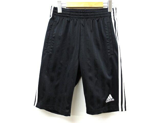 アディダス adidas 3本ライン ジャージ ハーフ ショートパンツ L 黒×白 メンズ 【中古】【ベクトル 古着】 180614 ベクトル 新都リユース