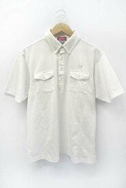 【中古】ヨネックス YONEX Very COOL 胸ポケット BD ボタンダウン 半袖 鹿の子 ポロシャツ 白 L メンズ 【ベクトル 古着】 200917 ベクトル 新都リユース