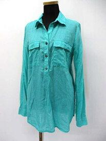 【中古】オールドネイビー OLD NAVY 胸ポケット付き ハーフボタン シャツ XS グリーン レディース 【ベクトル 古着】 200925 ベクトル 新都リユース