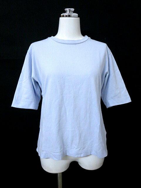 アニエスベー agnes b. 無地 半袖 カットソー Tシャツ 水色 1/A4 レディース 【中古】【ベクトル 古着】 171123 ベクトル 新都リユース