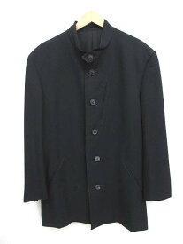 【中古】 イッセイミヤケ ISSEY MIYAKE マオカラー ジャケット M 黒 ブラック /H メンズ 【ベクトル 古着】 190604