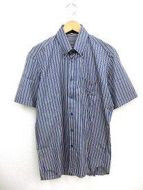 【中古】ヘルノ HERNO ストライプ ボタンダウンシャツ 48 BDシャツ /A1 メンズ 【ベクトル 古着】 190714 ベクトル 新都リユース