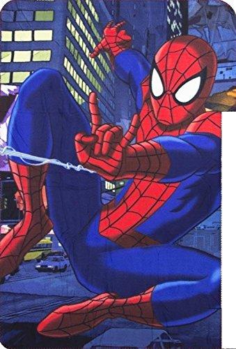 スパイダーマン SPIDERMAN フリースブランケット 毛布 100cm x 150cm 8612