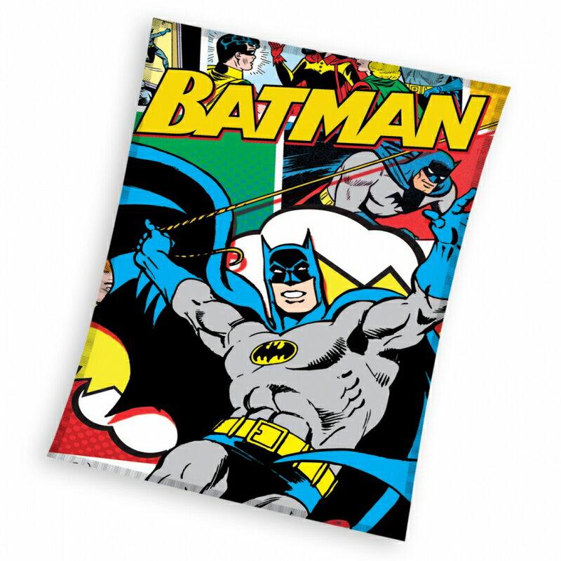 0317 バットマン フリース ブランケット 毛布 ひざ掛け 110cm x 140cm  Batman fleece blanket