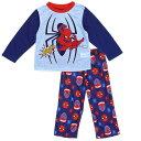 マーベル MARVEL スパイダーマン Spiderman パジャマ 長袖 上下セット 難燃性 ポリエステル