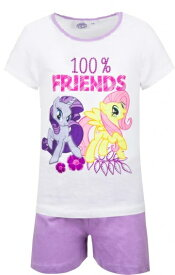 My Little Pony マイリトルポニー パジャマ 上下セット 半袖 Tシャツ 子供服 白