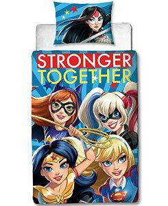 DC Super Hero Girls スーパーヒーローガールズ 掛け布団カバー + 枕カバー セット シングル