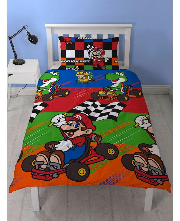 マリオカート Mario Kart シングル 布団カバー+枕カバーセット 7339