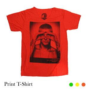 【メール便可】フォトプリント半そでTシャツベッカム全4カラー