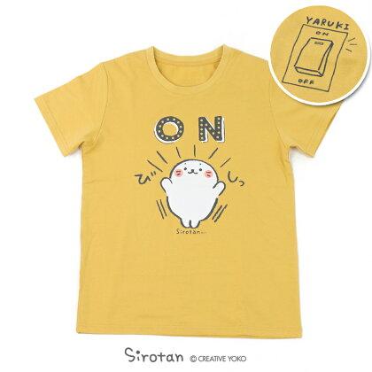 しろたんTシャツ半袖ON柄レディースメンズ男女兼用キャラクターサイズSMLXLマザーガーデン