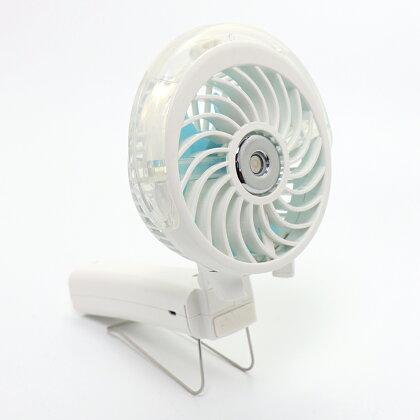 しろたんミニ扇風機ミストハンディファン3way扇風機卓上クリップ充電式携帯USBケーブル付きミストLEDライト付き首かけストラップ付き手持ちベビーカーペットカートキャリーバックペットのお散歩に屋外屋内アウトドア熱中症予防熱中症対策