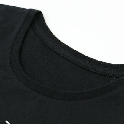 しろたん長袖Tシャツだいじょうぶです柄黒色レディースメンズSMLXLユニセックス男女兼用