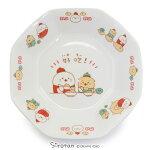 しろたん中華食器炒飯皿《カンフーハオチー柄》単品日本製磁器中華食器八角皿お皿シュウマイ皿食器あざらしアザラシかわいいキャラクター食マザーガーデン