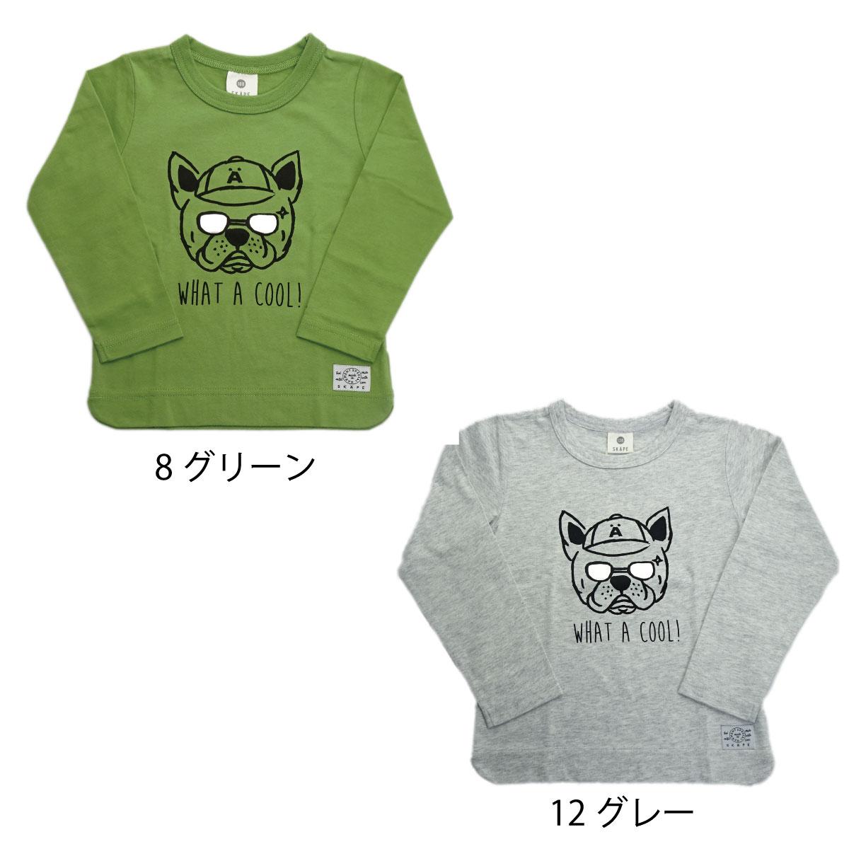【ネコポス対応】【SiShuNon/SKAPE】グラサン犬Tシャツ Tシャツ キッズ 犬 サングラス ロゴ