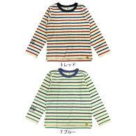【ネコポス対応】【SiShuNon/SKAPE】星ボーダーTシャツキッズ男の子ボーダー星スタースマイル長袖Tシャツ