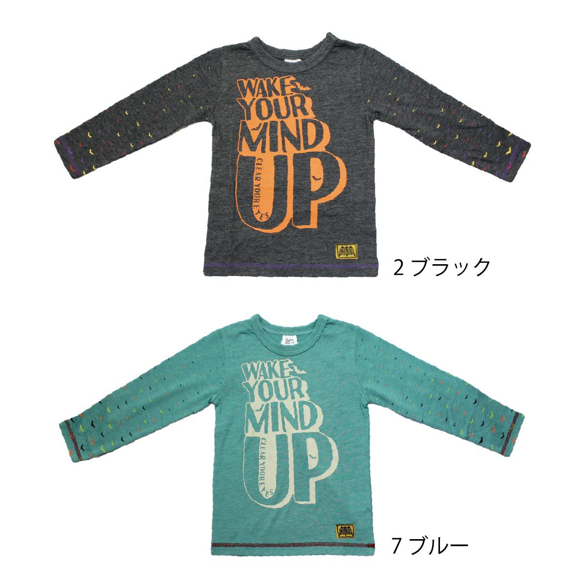 【セール】【ネコポス対応】【SiShuNon/FARM】ダークネスTシャツ ファーム 男の子 キッズ 長袖 Tシャツ コウモリ