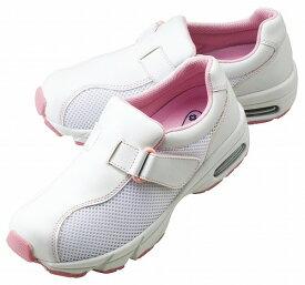 ナースシューズ 白/ピンク レディース 日本ヘルスシューズ シェスタースポーツ533