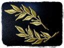 月桂樹ワッペン2枚セット【ネコポスOK】【アイロン接着付き】【order】【刺繍】