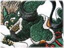 風神刺繍ワッペン【ネコポスOK】【アイロン接着】【和柄】【タトゥ】【トライバル】【刺青】