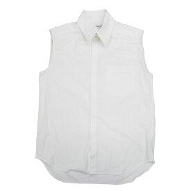 シャネル コットン ノースリーブシャツ サイズ40 ホワイト【中古】【あす楽対応_東海】【コンビニ受取対応商品】