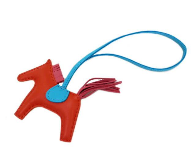 エルメス バッグチャーム ロデオPM オレンジポピーxローズアザレxブルーサンシール 未使用品【あす楽対応_東海】