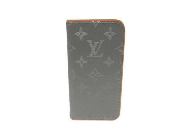 ルイ・ヴィトン モノグラム・チタニウム iphoneX&XSカバー IPHONEX&XSフォリオ M63241 未使用品 【あす楽対応_東海】【コンビニ受取対応商品】