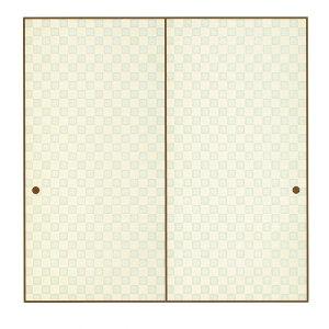 高級織物襖紙 市松(根岸色) いちまつ(ねぎしいろ) 1枚柄 (襖/襖紙/ふすま/ふすま紙/糸入り/織物/押入れ/張替)