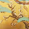 奢华面料滑动纸张四季鸟 (shikikachou) 一套四 (狩滑动门 / 麸皮 / 小麦麸皮纸与 / 银 / 豪华 / SIP / 存储)