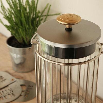 BARISTA&CO(バリスタ&コー)CorralCoffeePress1Lコラールコーヒープレス(コーヒープレスプレスコーヒーメーカーフレンチプレスプランジャープランジコーヒープランジポットコーヒーメーカーガラススチール抽出簡単シンプル)