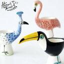 Hannah Turner(ハンナターナー)Egg cups エッグカップ(エッグスタンド ゆで卵 スタンド型 たまごたて 孔雀 フラミン…