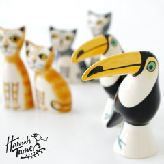 HannahTurner(ハンナターナー)SaltandPepper塩コショウ入れ(調味料入れ調味料ケースソルト&ペッパーボトル孔雀虎オニオオハし猫ねこネコキャットモチーフ陶器せっ器小物入れ)