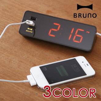 BRUNO (Bruno) LED clock with USB (USB port with radio clock clock desk locks)