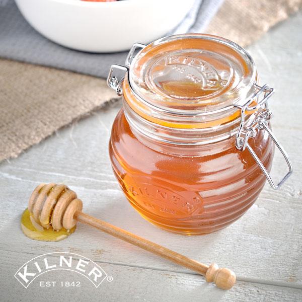 KILNER(キルナー)HONEY POT & DRIZZLER 0.4L(ハニーポット&ドリズラー)(はちみつ ハチミツ 蜂蜜 ジャム チョコレート 容器 保存瓶 ガラス おしゃれ)