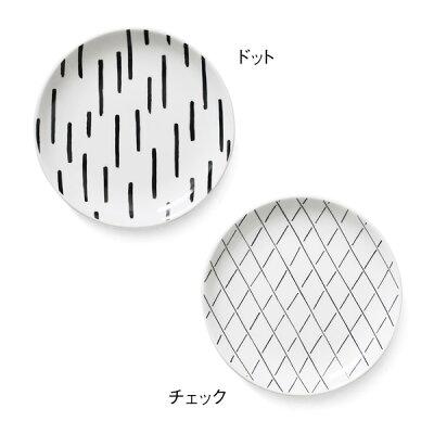 SOROIDraw(ソロイドロー)PLATEM19cmプレートM(電子レンジ可/食洗器可/丸皿/取り皿/シンプル/スタイリッシュ/手書き/美濃焼/磁器/CHIPS/引出物/贈り物/贈答品)